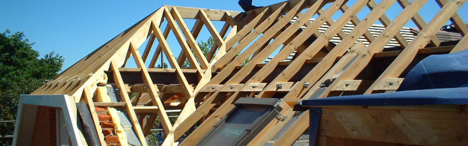 Pitched roof with dormer and roof windows